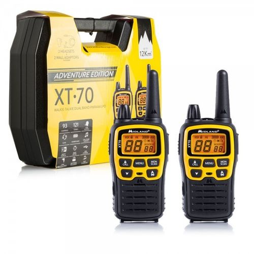 Pack DUO walkie talkie Midland XT70 Adventure