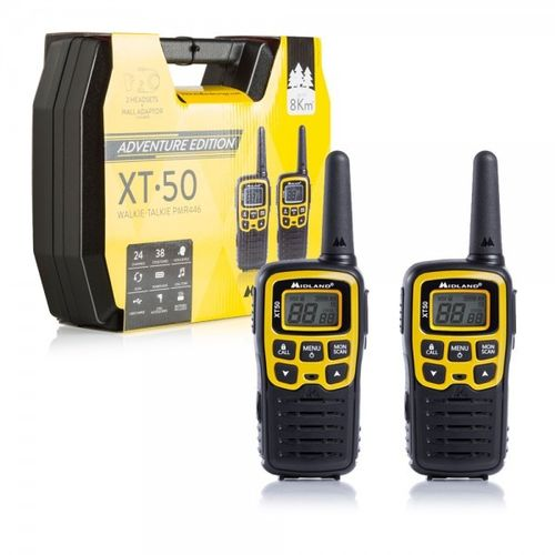 Pack DUO walkie talkie Midland XT50 Adventure