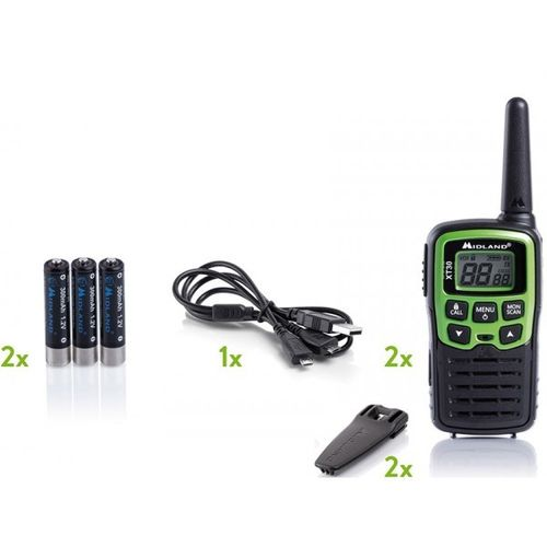 Pack DUO walkie talkie Midland XT30